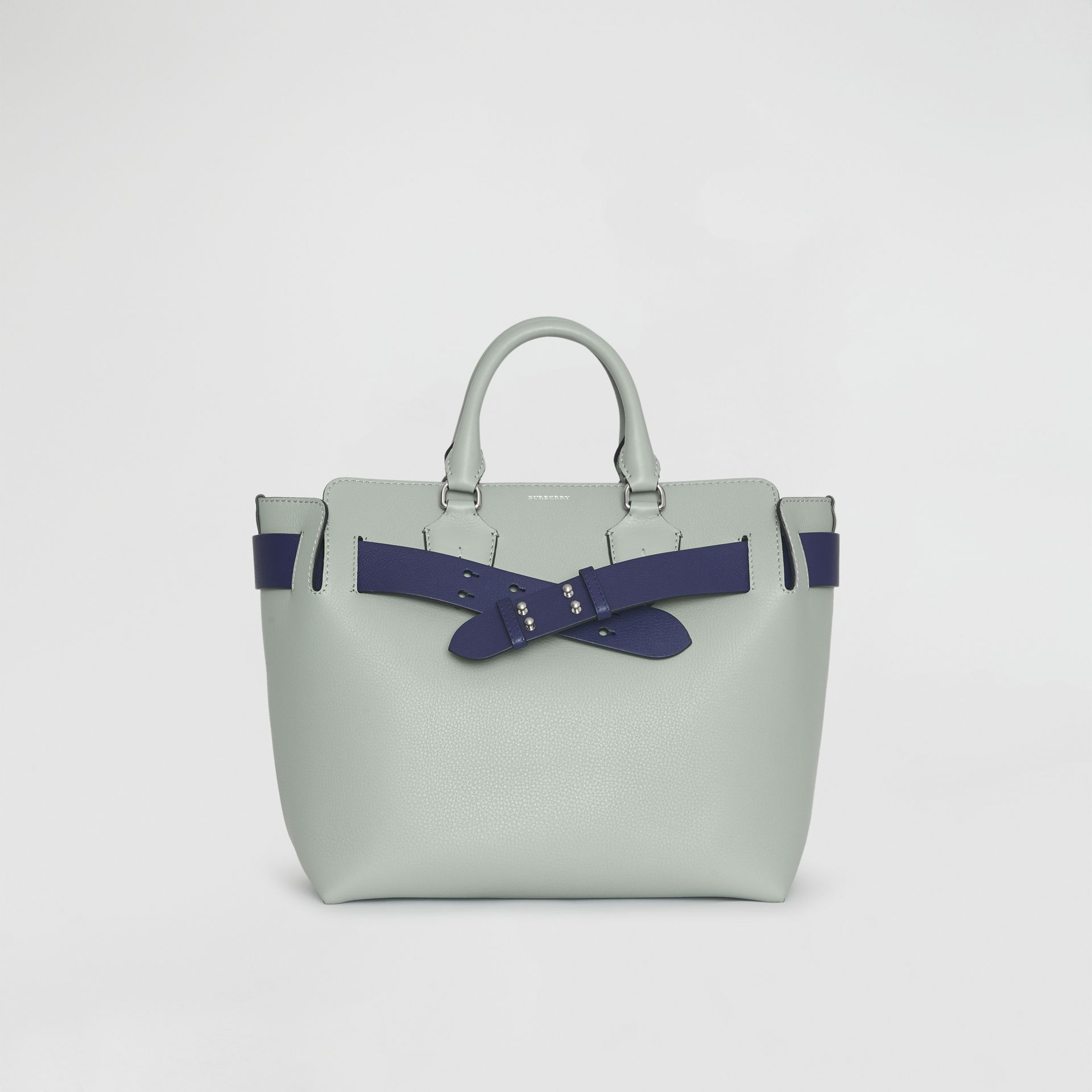 The Medium Leather Belt Bag in Grey Blue - Women | Burberry - gallery image 0