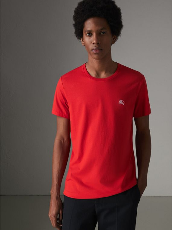 Cotton Jersey T-shirt in Bright Red