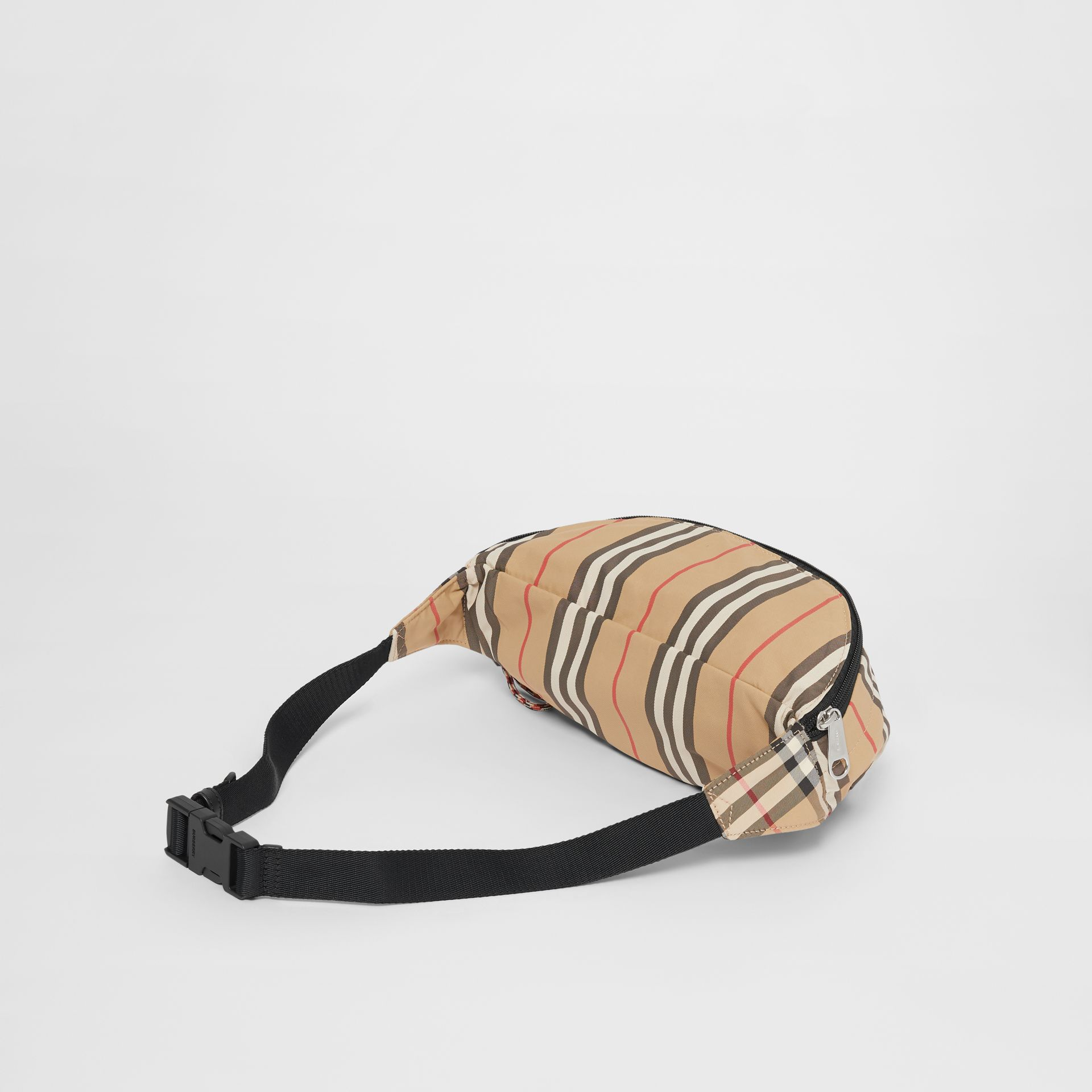 Vintage Check and Icon Stripe Convertible Bum Bag in Archive Beige - Children | Burberry - gallery image 2