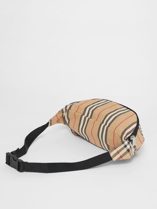 Vintage Check and Icon Stripe Convertible Bum Bag in Archive Beige - Children | Burberry - cell image 2