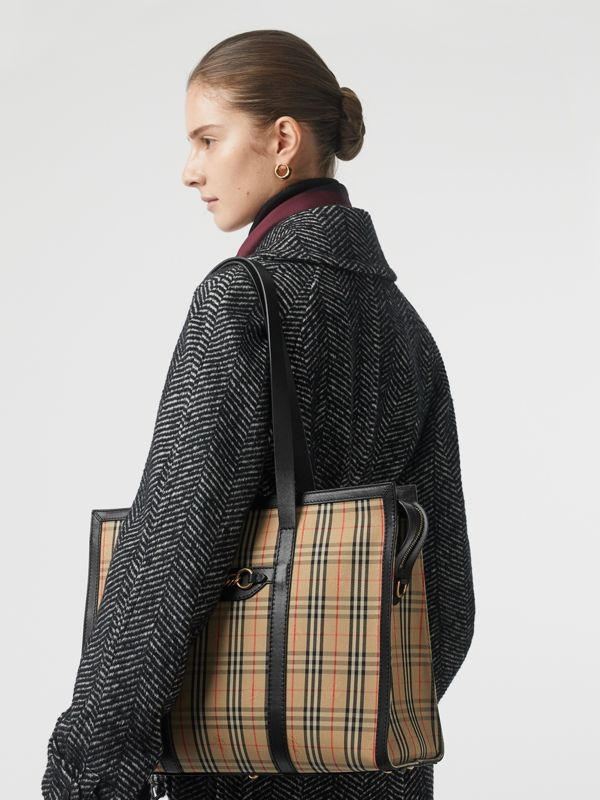 The 1983 Check Link Tote Bag in Black - Women | Burberry United Kingdom - cell image 2
