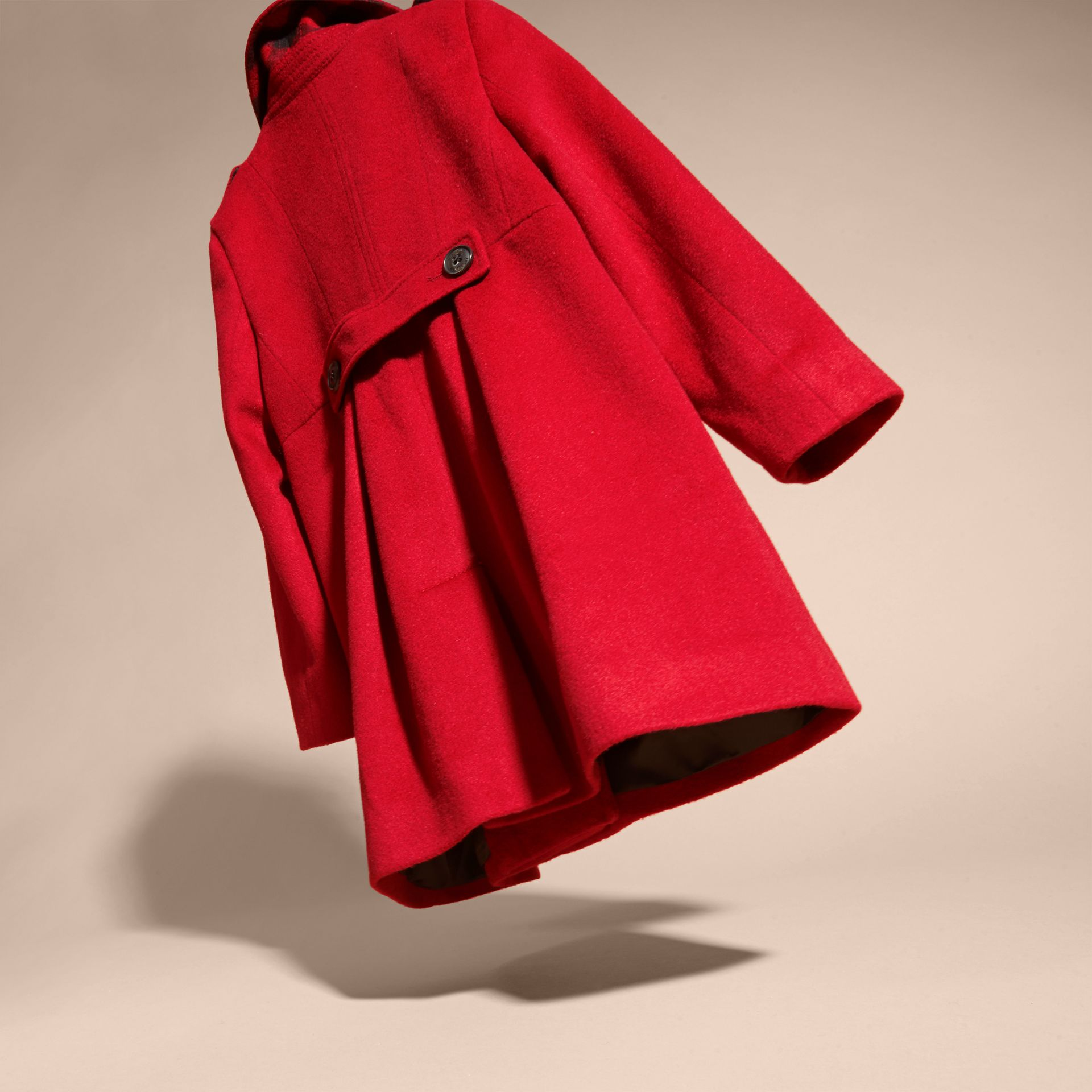 Cashmere Military Coat in Parade Red - gallery image 4