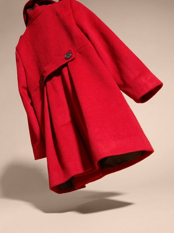 Cashmere Military Coat in Parade Red - cell image 3