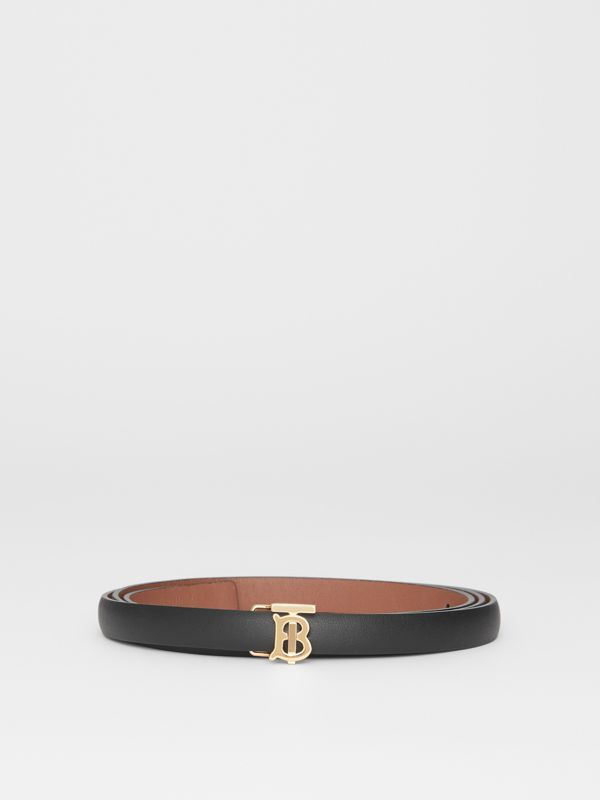 Reversible Monogram Motif Leather Wrap Belt in Black/malt Brown - Women | Burberry United Kingdom - cell image 3