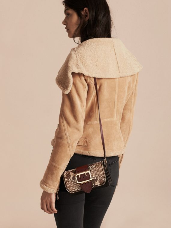 The Small Buckle Bag in Python and Leather - cell image 3