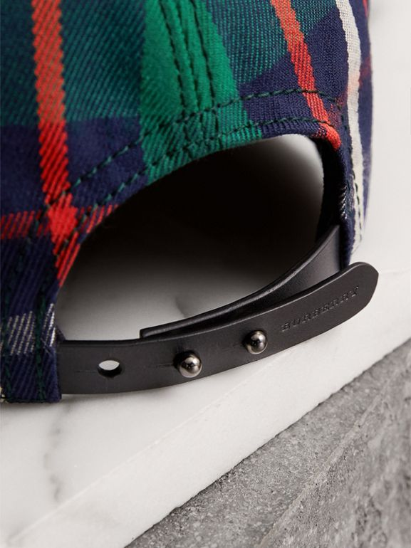 Check Baseball Cap in Forest Green | Burberry - cell image 1