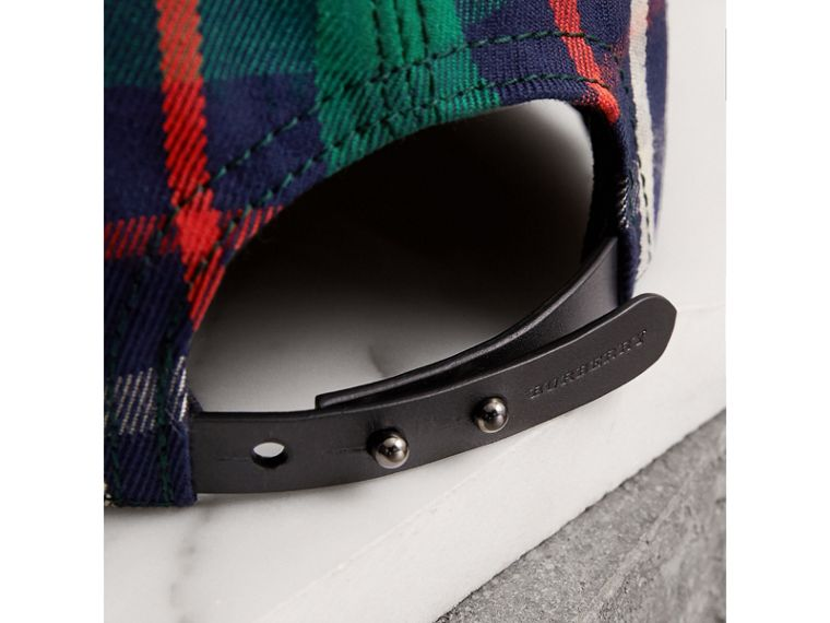 Check Baseball Cap in Forest Green | Burberry Singapore - cell image 1