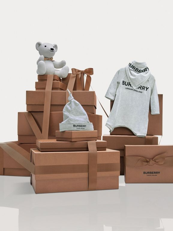 Cotton Cashmere Thomas Bear in Ivory - Children | Burberry - cell image 1