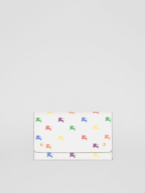 EKD Leather Wristlet Clutch in Chalk White