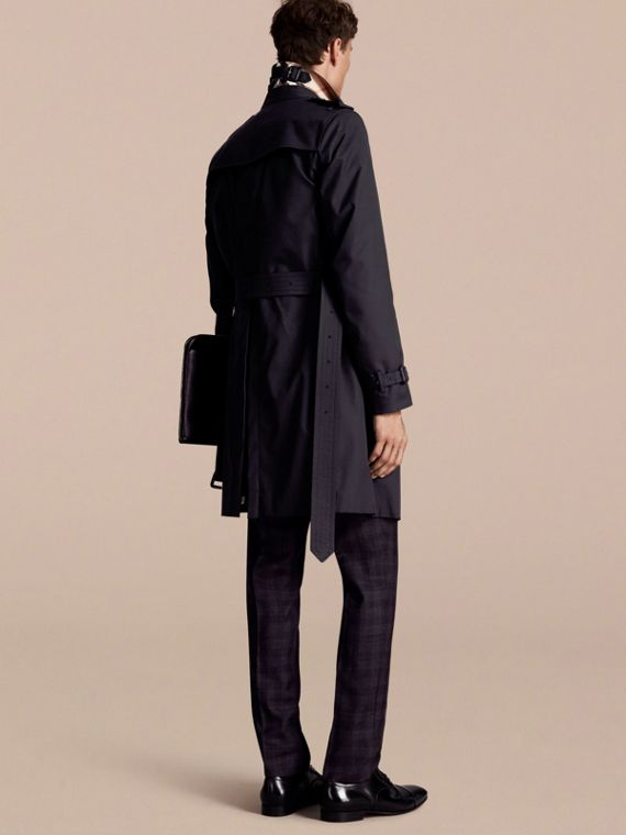 Navy The Chelsea – Long Heritage Trench Coat Navy - cell image 2