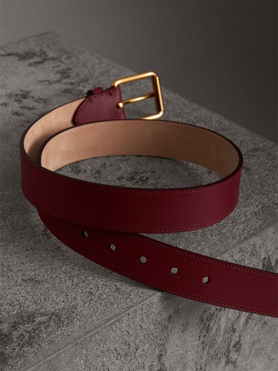 Trench Leather Belt in Antique Red - Men | Burberry Australia - cell image 3