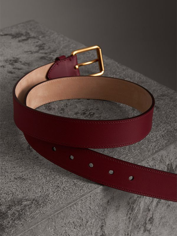 Trench Leather Belt in Antique Red - Men | Burberry United Kingdom - cell image 3