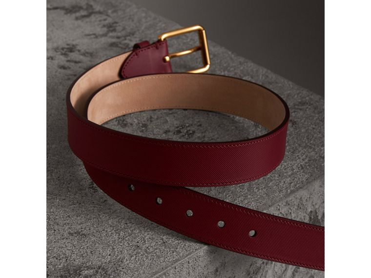 Trench Leather Belt in Antique Red - Men | Burberry Australia - cell image 2