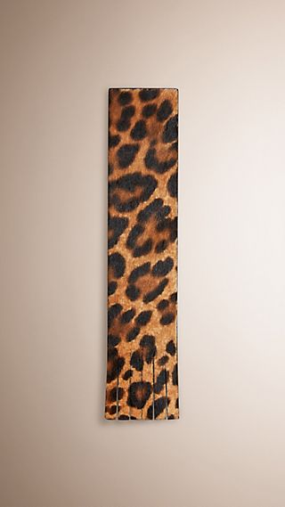 Animal Print Calfskin Bookmark