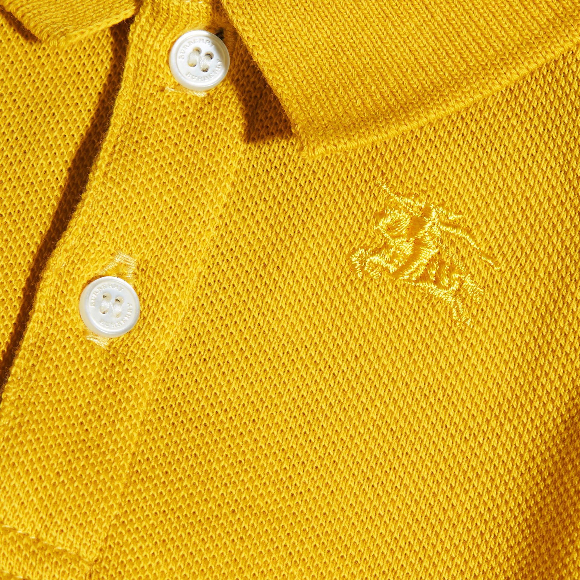 Check Placket Polo Shirt | Burberry - gallery image 2