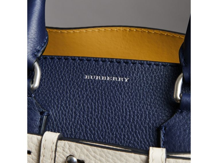 The Small Leather Belt Bag in Regency Blue - Women | Burberry - cell image 1