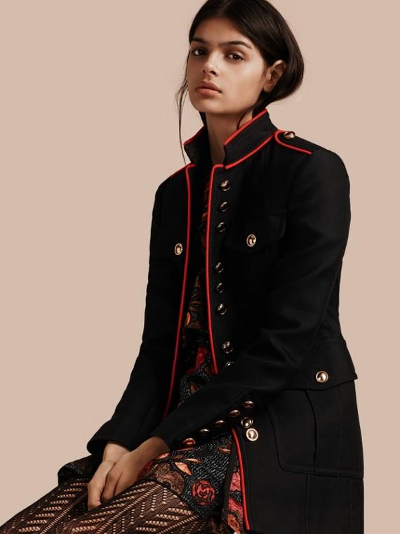 Cotton Silk Regimental Jacket