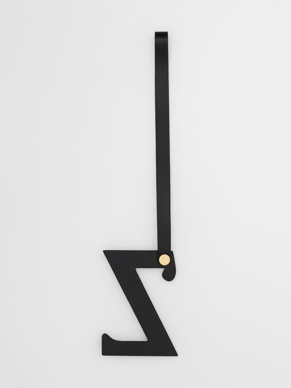 'Z' Studded Leather Alphabet Charm in Black/light Gold - Women | Burberry United Kingdom - cell image 2