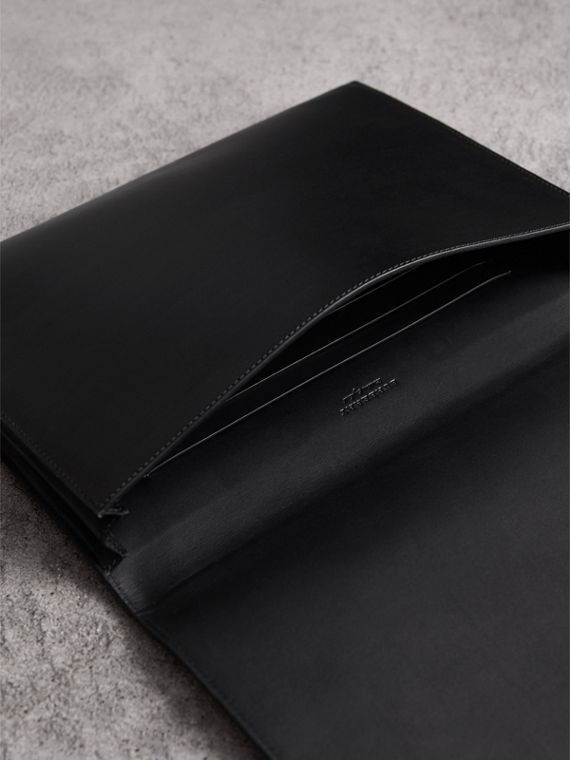 Equestrian Shield Leather A4 Document Case in Black - Men | Burberry United Kingdom - cell image 3