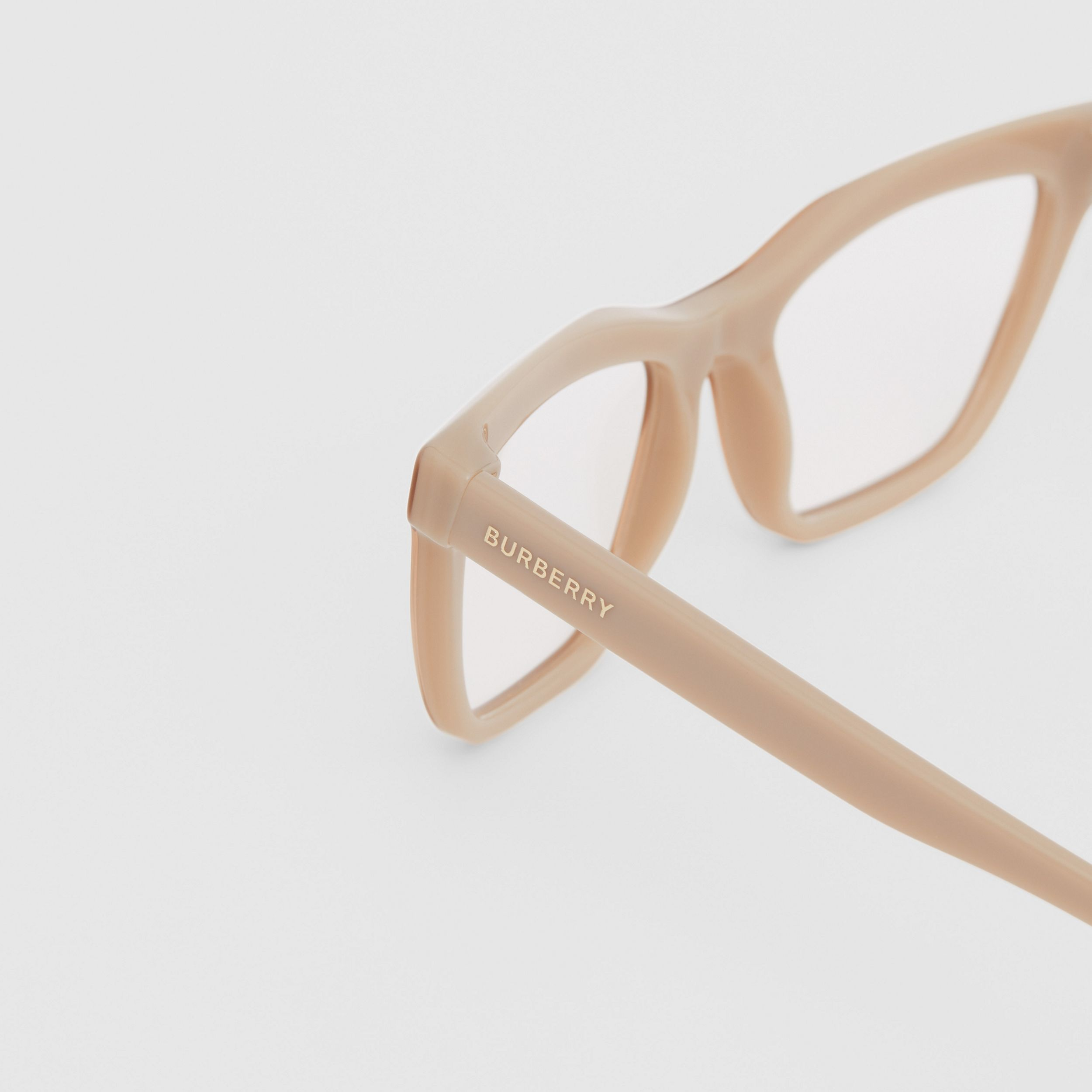 Rectangular Optical Frames in Peach - Women | Burberry - 2