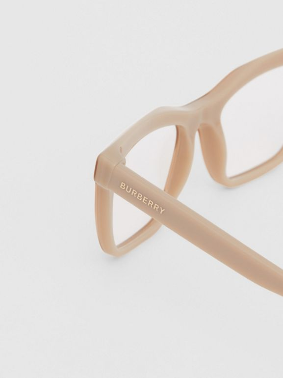 Rectangular Optical Frames in Peach - Women | Burberry Australia - cell image 1