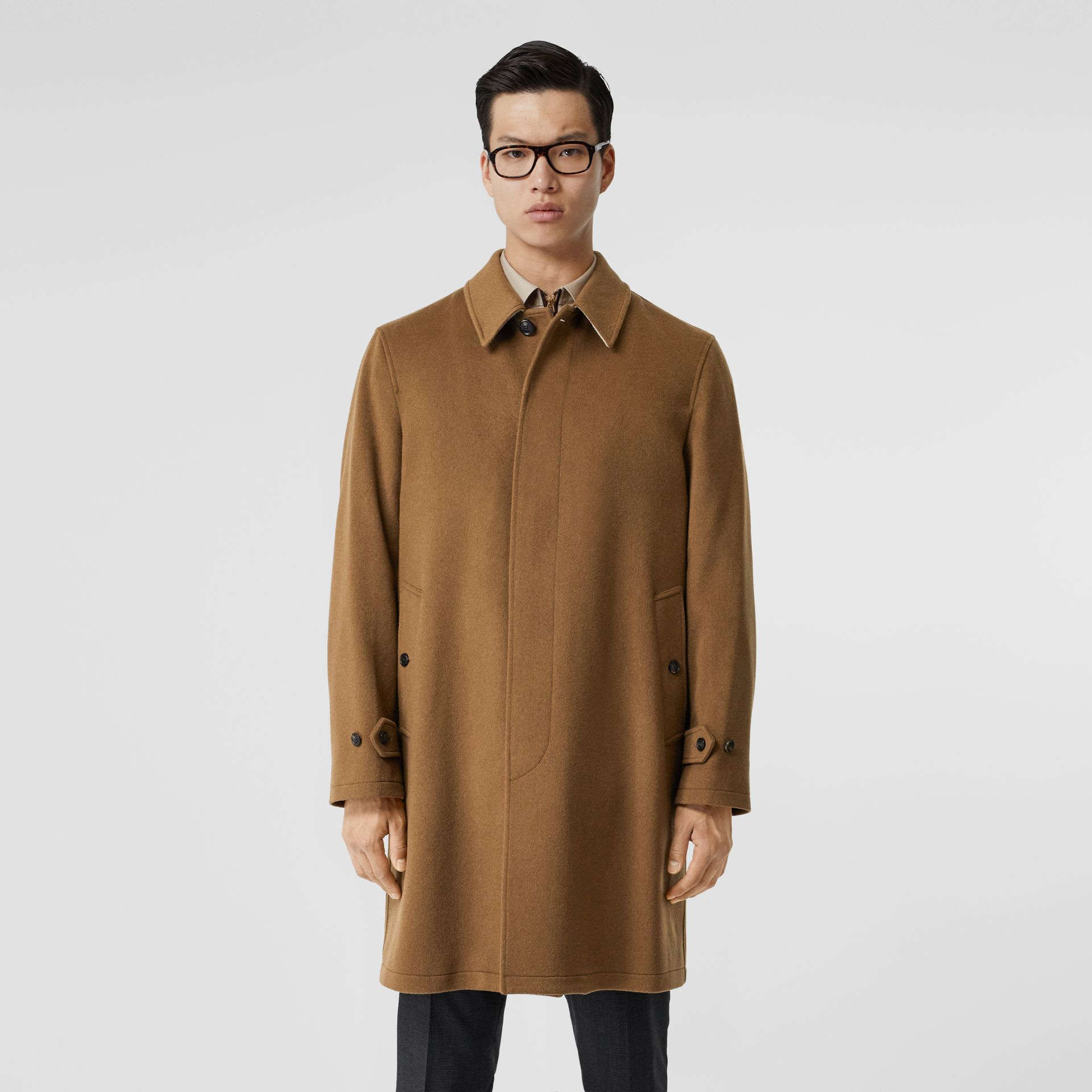 Cashmere Car Coat in Dark Camel - Men | Burberry - gallery image 5