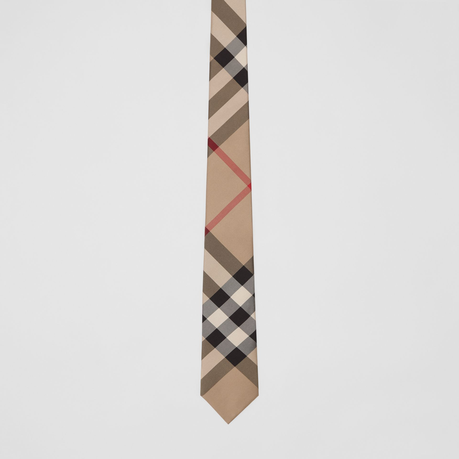 Classic Cut Check Silk Tie in Archive Beige - Men | Burberry Canada - gallery image 3