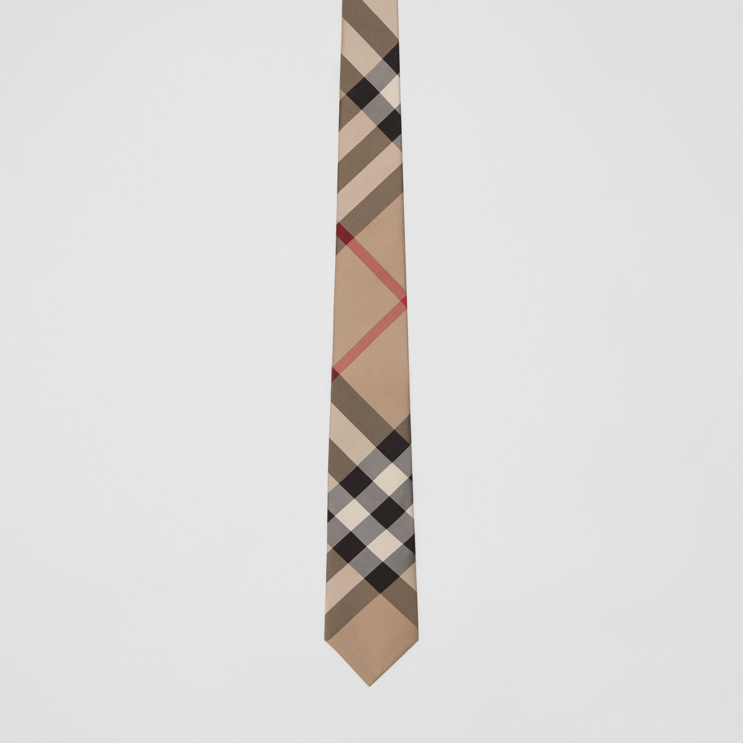 Classic Cut Check Silk Tie in Archive Beige - Men | Burberry - 4