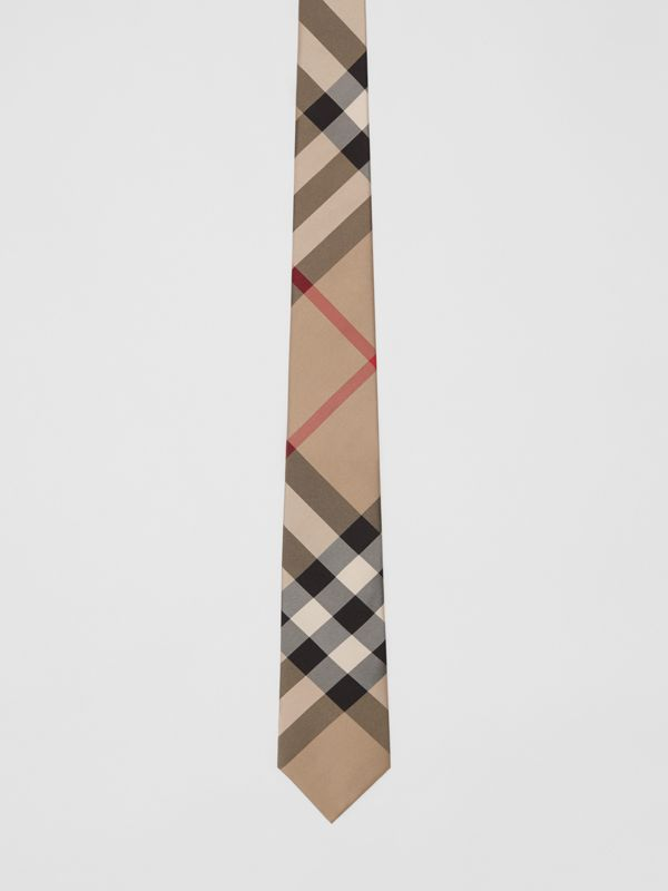 Classic Cut Check Silk Tie in Archive Beige - Men | Burberry - cell image 3