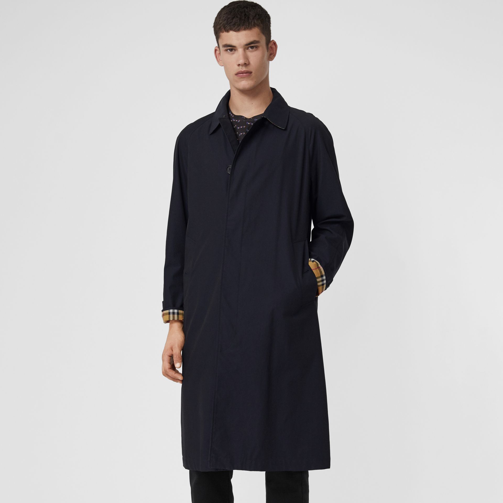 The Brighton Car Coat in Blue Carbon - Men | Burberry - gallery image 7