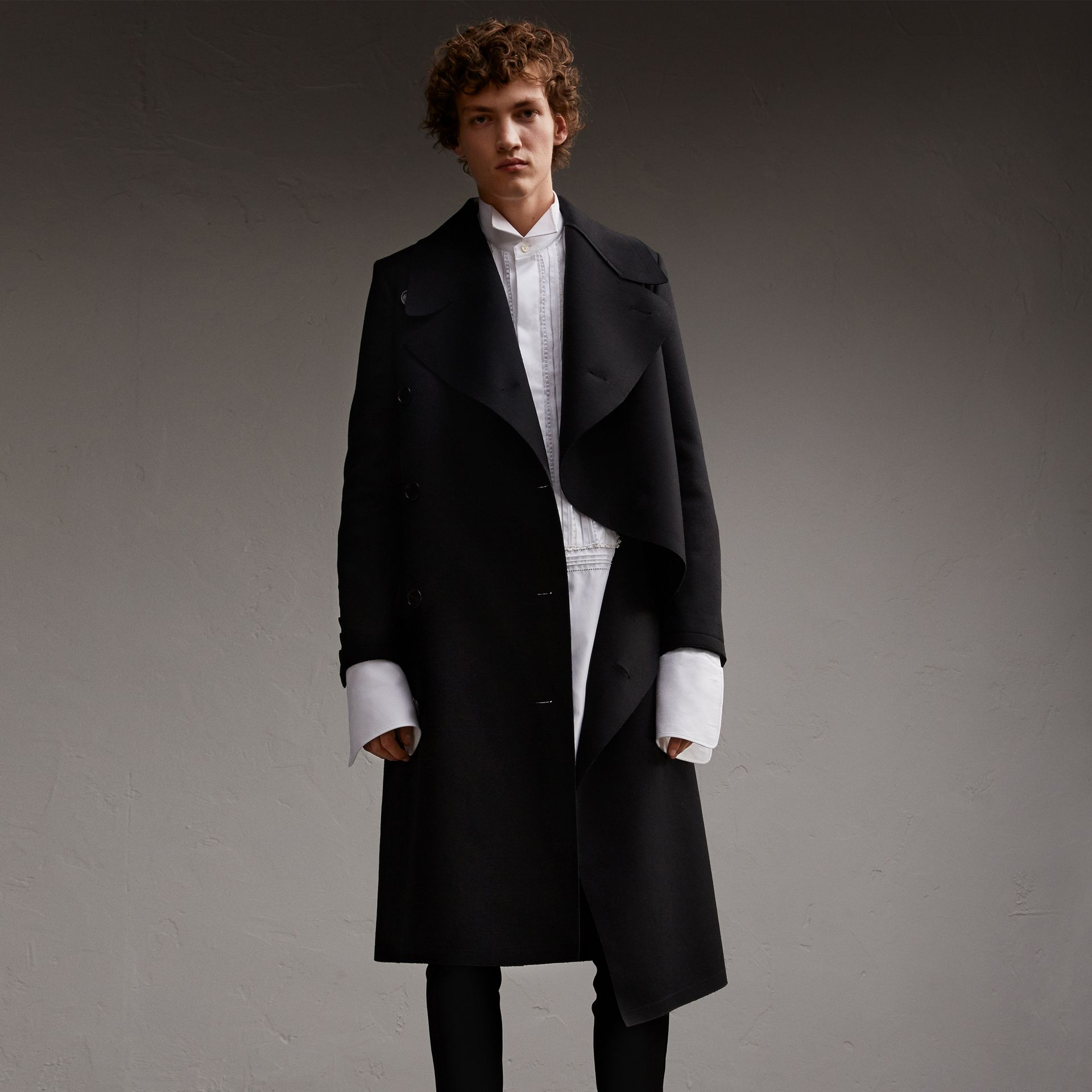 Military Wool Asymmetric Topcoat - Men | Burberry Hong Kong - gallery image 1