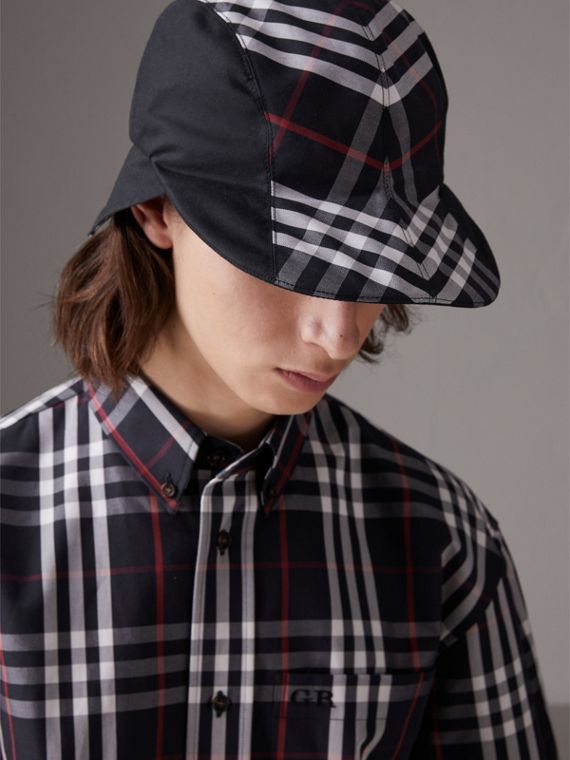 Gosha x Burberry Duckbill Cap in Navy | Burberry - cell image 2