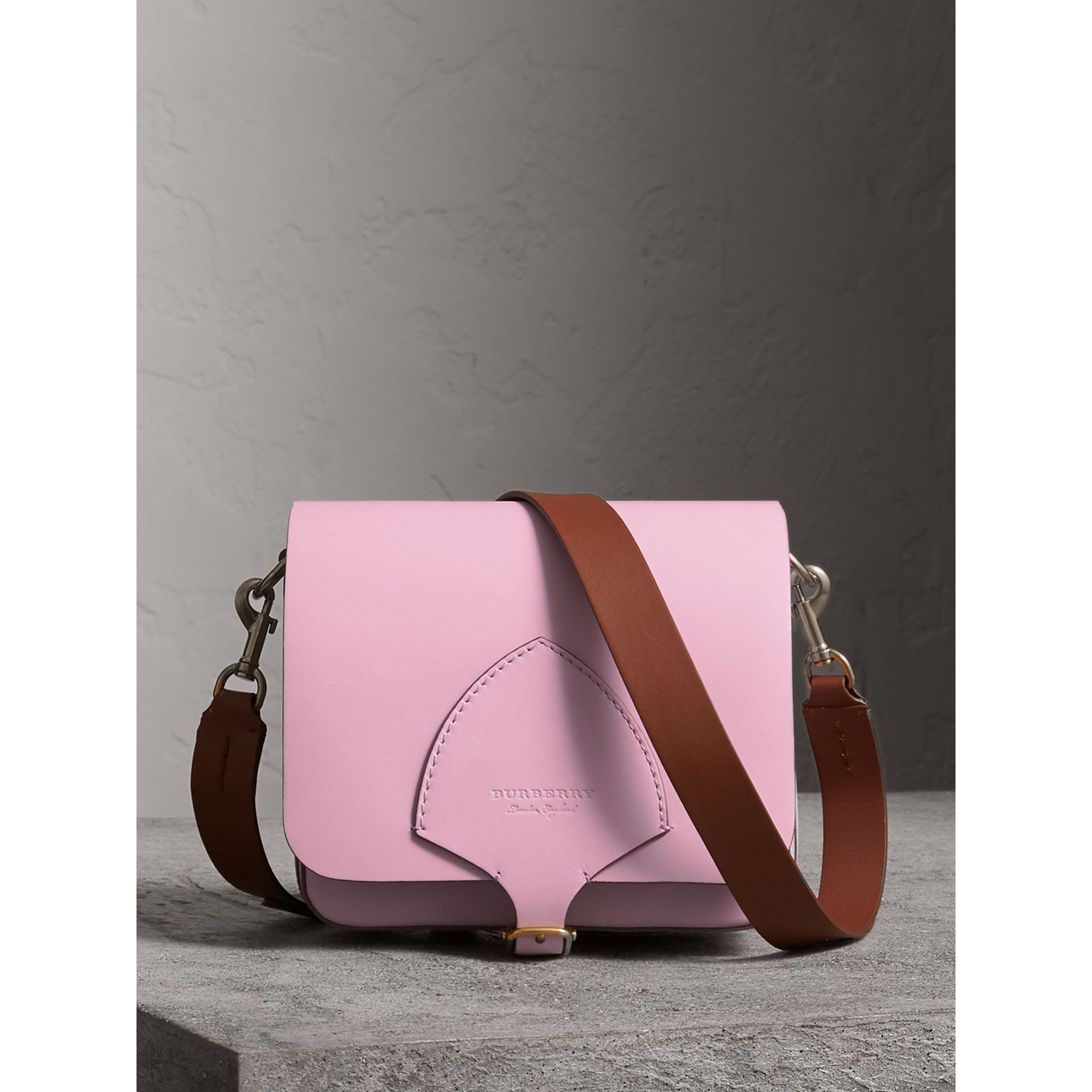 The Satchel squadrata in pelle (Lavanda Pallido) - Donna | Burberry - immagine della galleria 0
