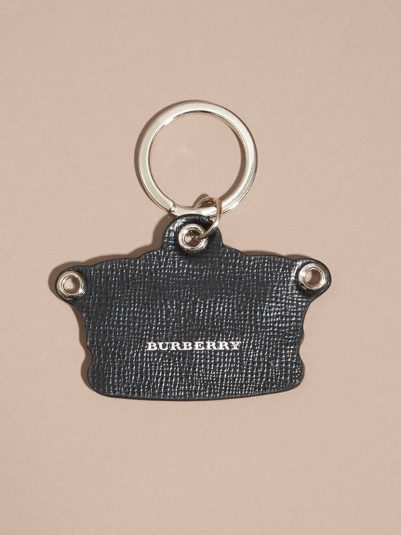 Storm green Snakeskin and Leather Crown Key Ring - cell image 3