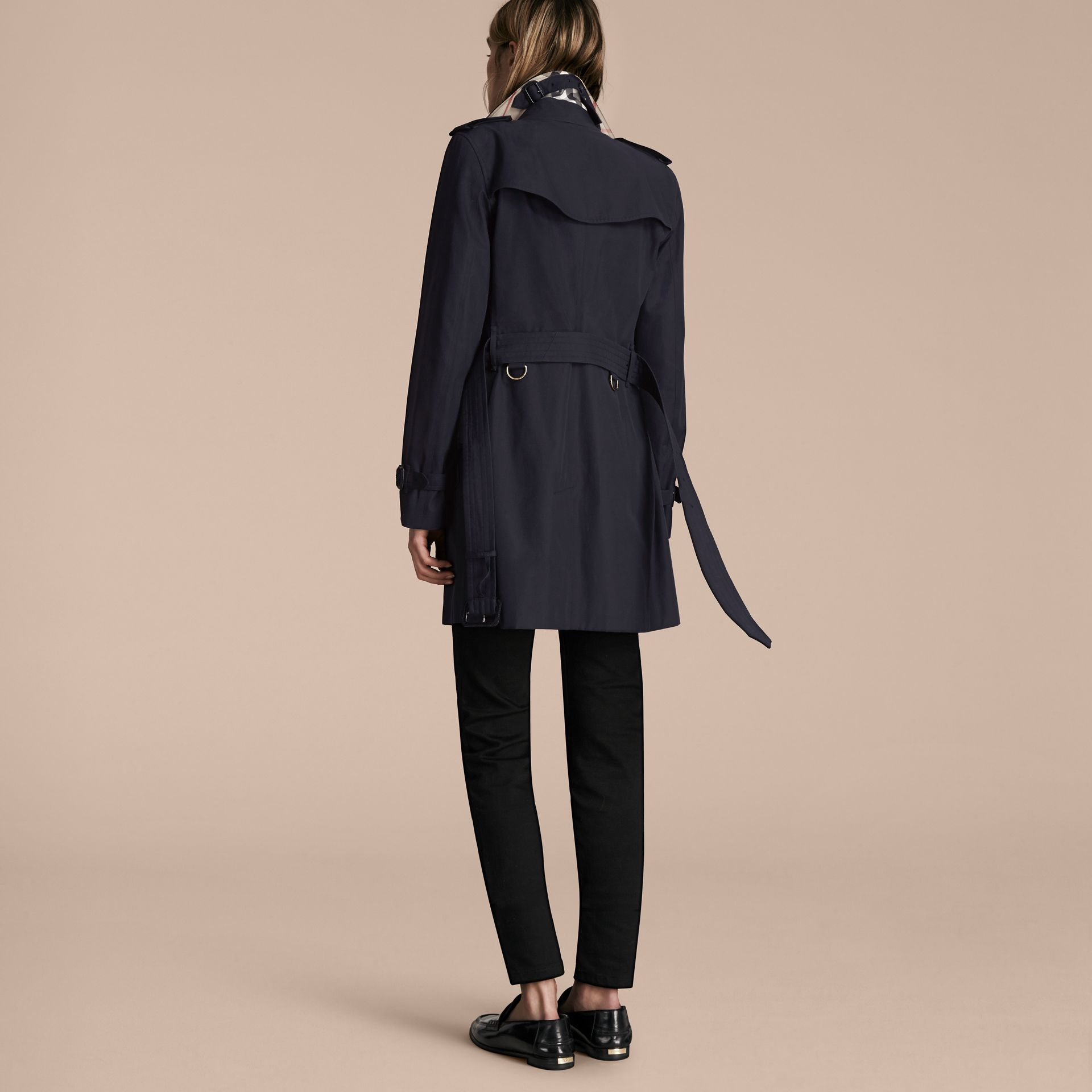 Navy The Kensington – Mid-Length Heritage Trench Coat Navy - gallery image 3