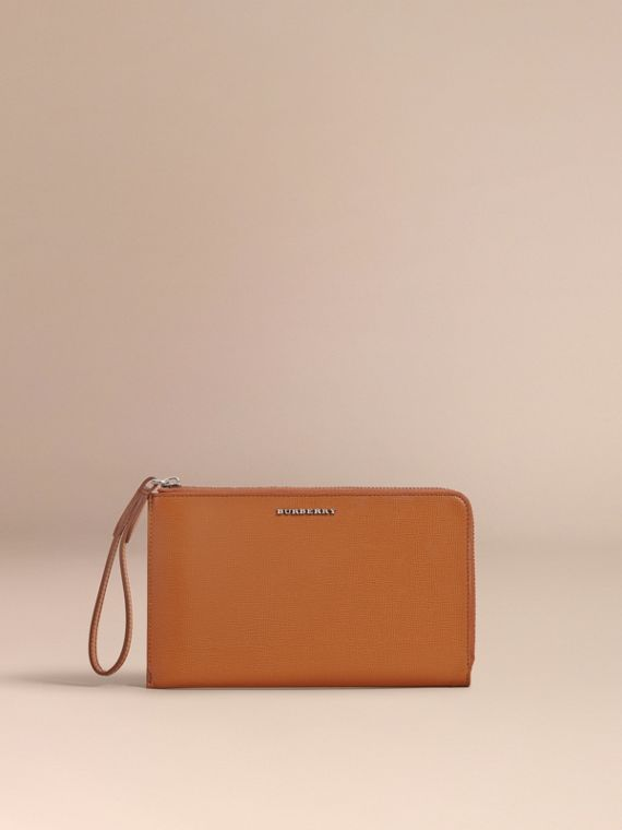 London Leather Travel Wallet in Tan | Burberry Singapore - cell image 2