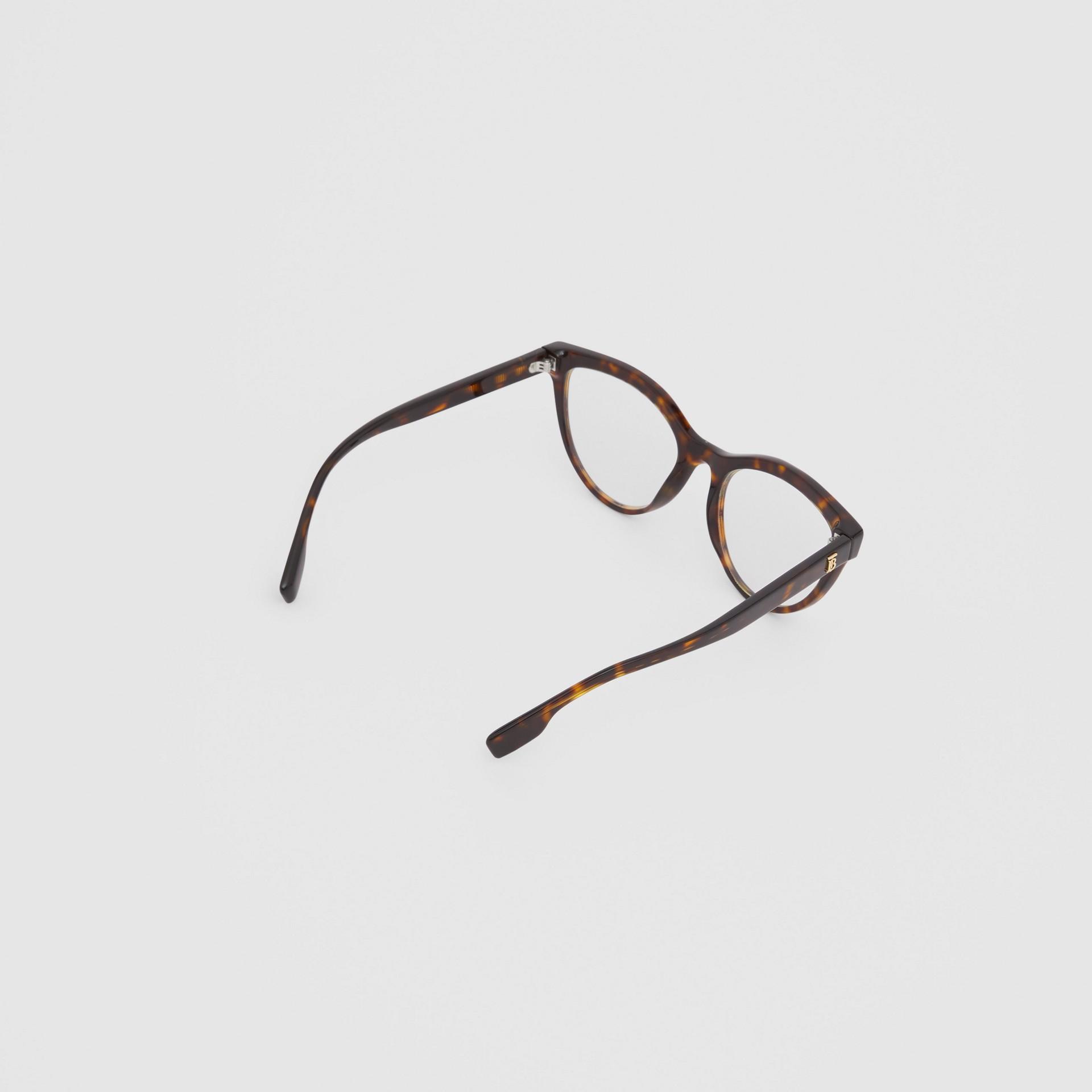Monogram Motif Cat-eye Optical Frames in Tortoiseshell - Women | Burberry Hong Kong S.A.R - gallery image 3