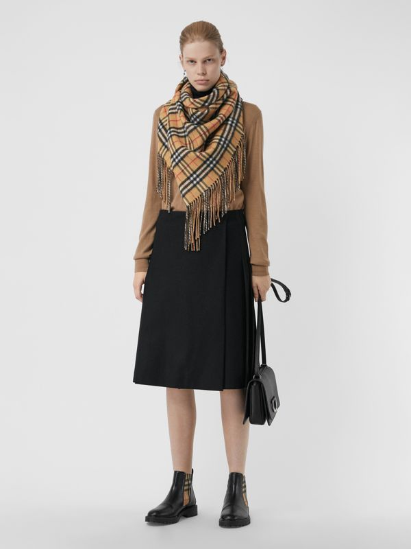 The Burberry Bandana in Vintage Check Cashmere in Sandstone | Burberry Australia - cell image 2
