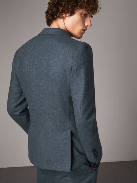 Soho Fit Shetland Wool Tailored Jacket in Dark Airforce Blue - Men | Burberry - cell image 2