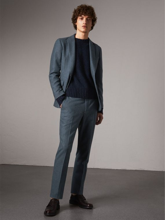 Soho Fit Wool Trousers in Dark Airforce Blue