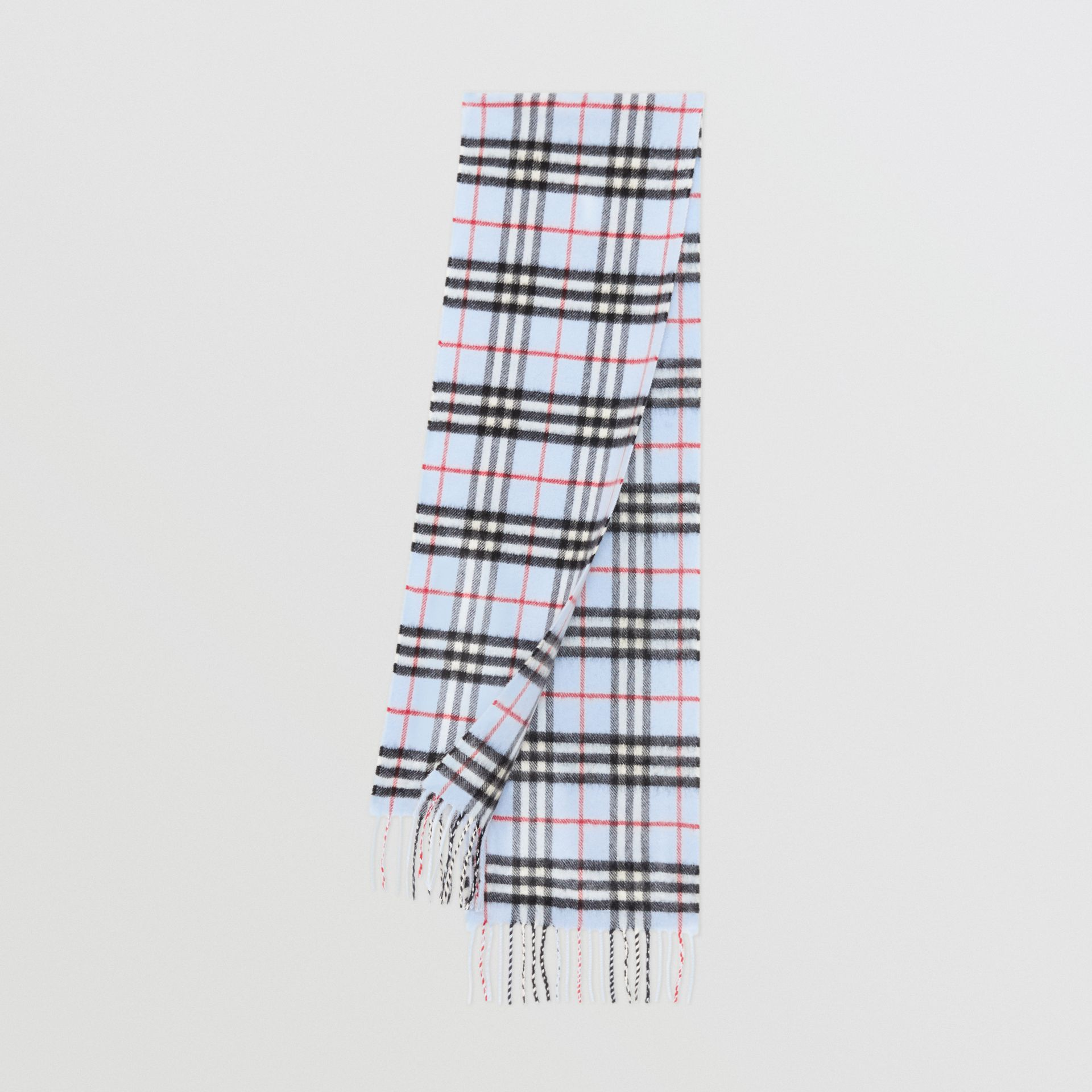 The Mini Classic Vintage Check Cashmere Scarf in Pale Blue - Children | Burberry United States - gallery image 0