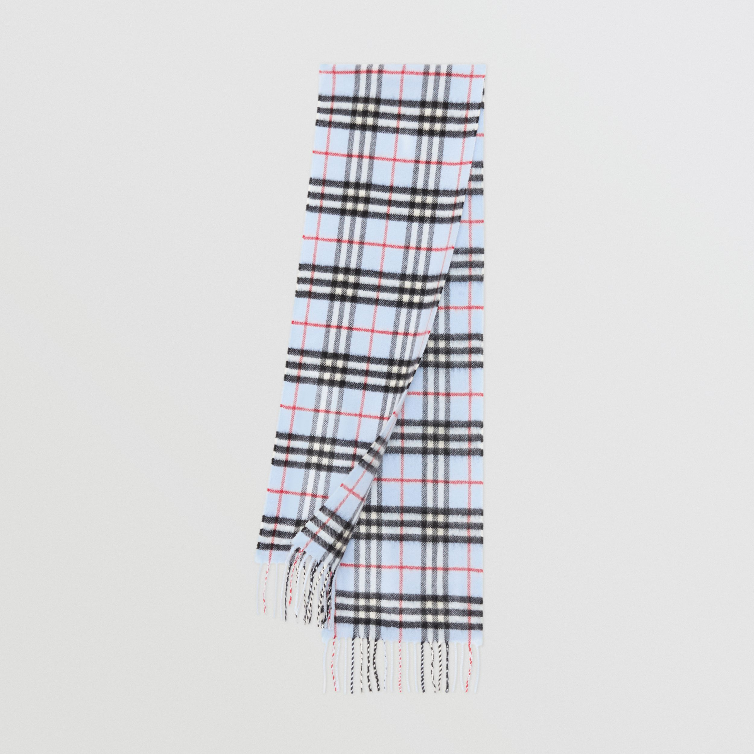 The Mini Classic Vintage Check Cashmere Scarf in Pale Blue - Children | Burberry - 1