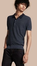 Lightweight Silk Blend Polo Shirt
