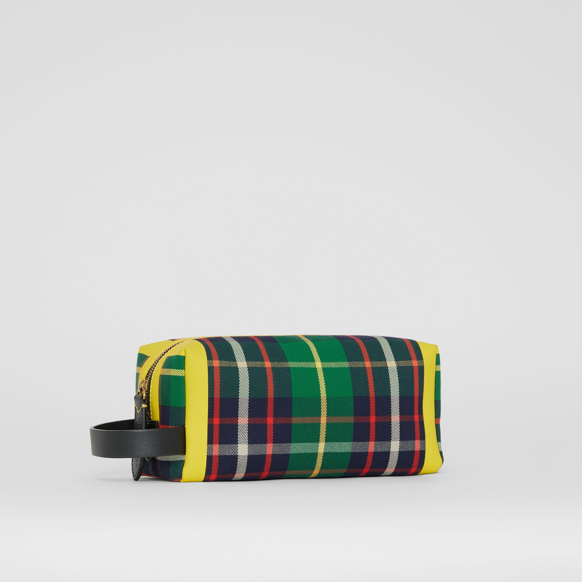 Tartan Cotton Pouch in Forest Green | Burberry United States - gallery image 7
