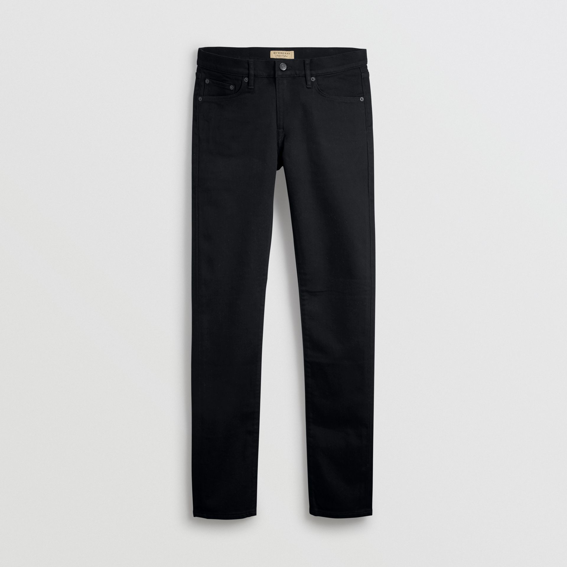 Jean denim extensible de coupe étroite (Noir) - Homme | Burberry Canada - photo de la galerie 3