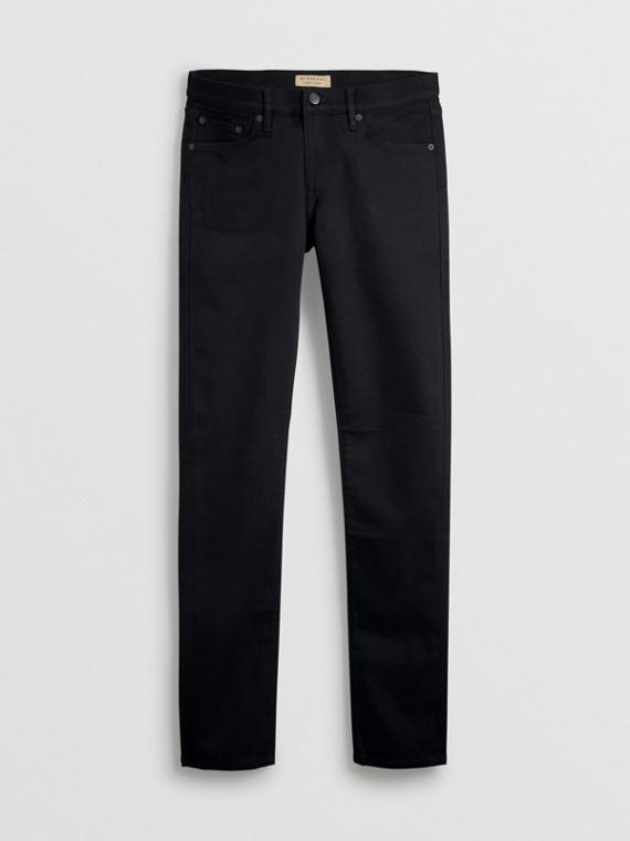 Jeans aderenti in denim stretch (Nero)