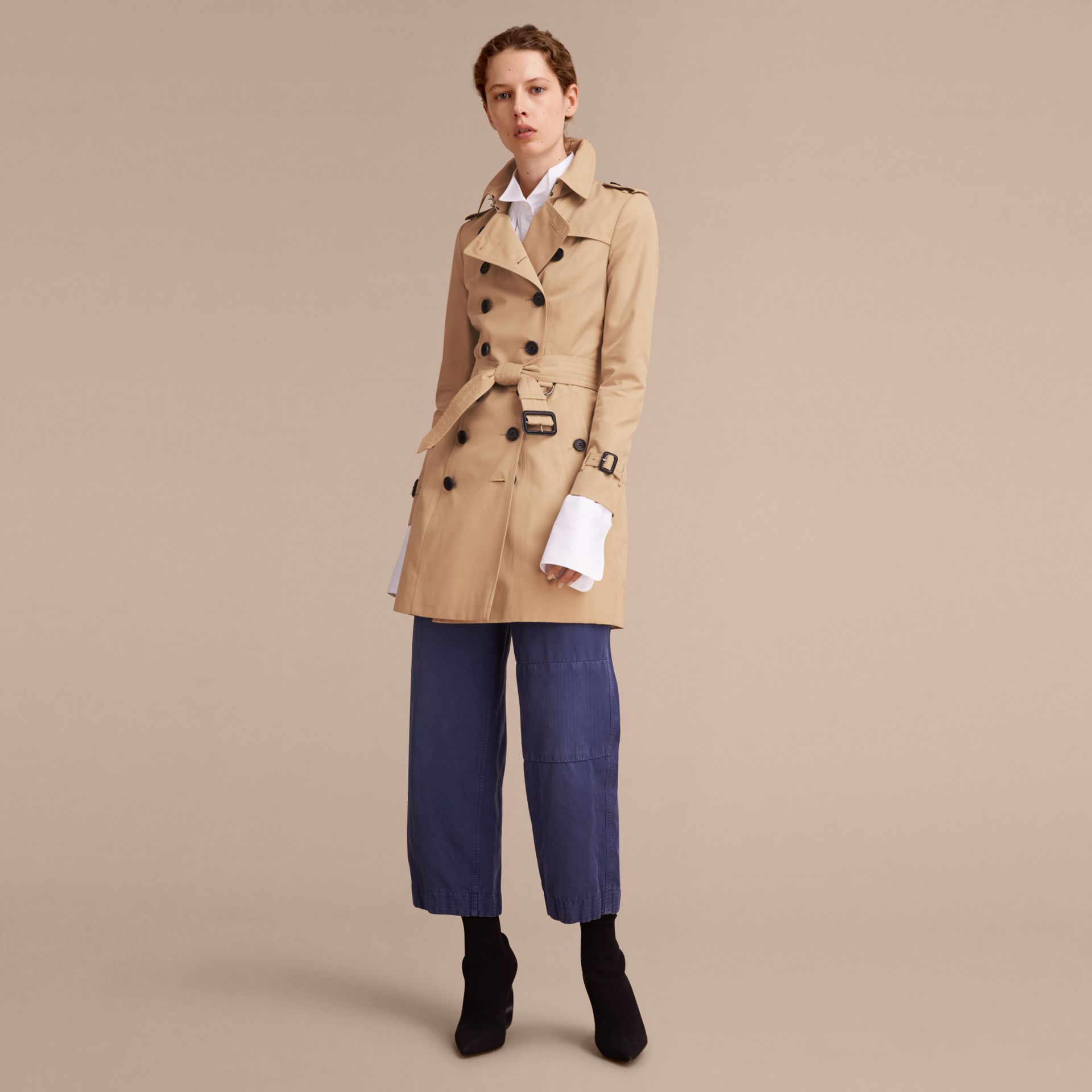 Honey The Chelsea – Mid-length Heritage Trench Coat Honey - gallery image 8