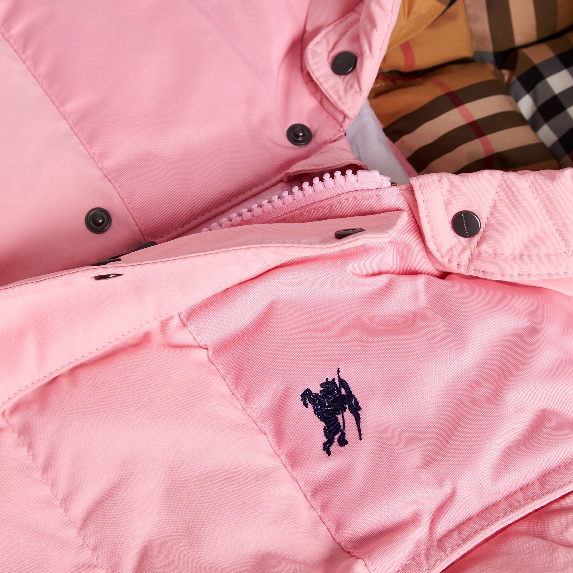 Down-filled Puffer Suit in Ice Pink - Children | Burberry - gallery image 1
