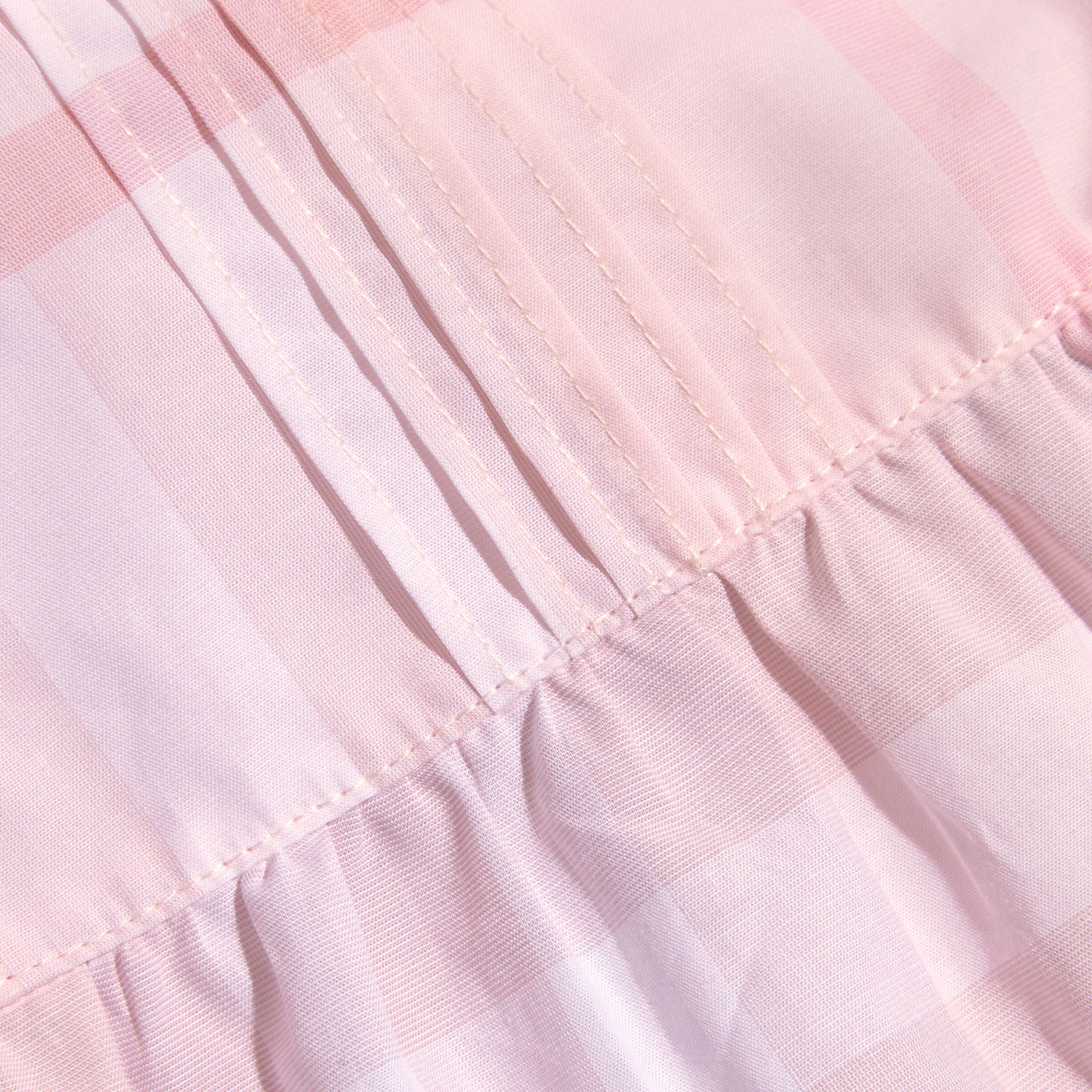 Check Cotton Pin Pleat Top and Bloomers in Ice Pink | Burberry - gallery image 2