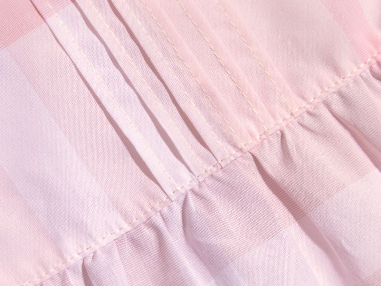 Check Cotton Pin Pleat Top and Bloomers in Ice Pink | Burberry - cell image 1